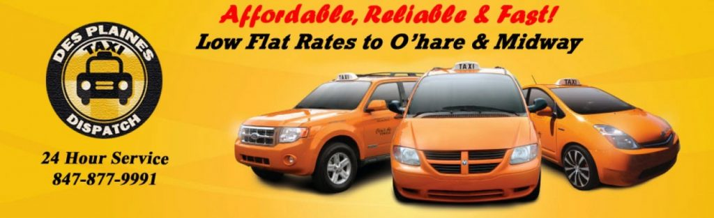 Des Plaines Taxi Dispatch inc 24/7 Taxi Service (847) 877-9991